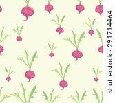 watercolor pattern pink beets | Shutterstock .eps vector #291714464