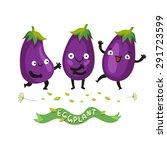ripe fresh eggplant or... | Shutterstock .eps vector #291723599