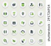 black green icons on white...   Shutterstock .eps vector #291726914