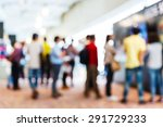 abstract blurred people in... | Shutterstock . vector #291729233