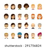 Set Of Diverse Avatars....