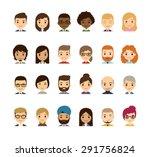 Set Of Diverse Avatars....