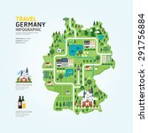 infographic travel and landmark ... | Shutterstock .eps vector #291756884