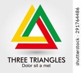 three triangles logo element... | Shutterstock .eps vector #291764486