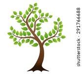 vector green tree on white... | Shutterstock .eps vector #291766688