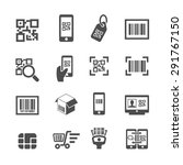 check code icons  vector | Shutterstock .eps vector #291767150
