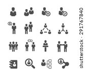 business icons set  vector | Shutterstock .eps vector #291767840