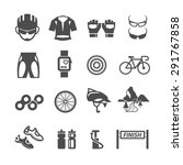 bicycle icons set  vector | Shutterstock .eps vector #291767858