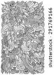 ethnic floral zentangle  doodle ... | Shutterstock .eps vector #291769166