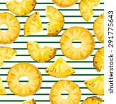Seamless Pattern With Pineapple ...
