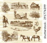 rural landscape and houses  ...   Shutterstock .eps vector #291776399