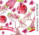 Watercolor Bonsai Tree With...