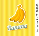 Retro Banana With Title On...