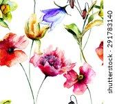 seamless pattern with original... | Shutterstock . vector #291783140