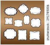 vintage frames vector | Shutterstock .eps vector #291785006