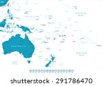 australia and oceania   map and ... | Shutterstock .eps vector #291786470