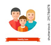 happy family with child. flat... | Shutterstock .eps vector #291786878