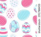 beautiful easter egg seamless... | Shutterstock . vector #291788453