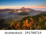 sunrise at mount bromo volcano  ... | Shutterstock . vector #291788714
