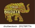 big data hadoop concept | Shutterstock .eps vector #291789776