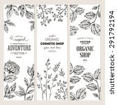 botanical banner collection.... | Shutterstock .eps vector #291792194