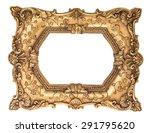 Baroque Golden Frame Isolated...
