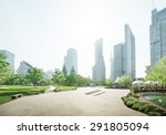 park in lujiazui financial... | Shutterstock . vector #291805094