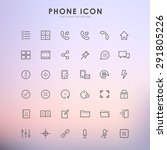 phone line icons on gradient... | Shutterstock .eps vector #291805226