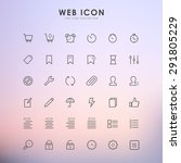 web line icon on gradient... | Shutterstock .eps vector #291805229
