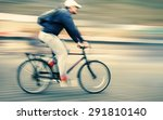 abstract image of cyclist on... | Shutterstock . vector #291810140