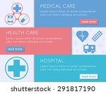 medical banner set. health ... | Shutterstock .eps vector #291817190