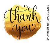 Thank You Hand Lettering On...