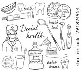 Dental Health Doodles Icons Se...