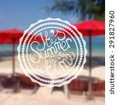 retro style summer label on... | Shutterstock .eps vector #291827960