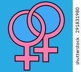 female and female sign | Shutterstock .eps vector #291831980