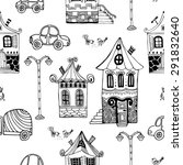 hand drawn seamless pattern...   Shutterstock .eps vector #291832640