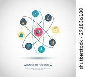 concept. back to school. flat... | Shutterstock .eps vector #291836180