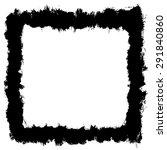 black grungy frame | Shutterstock .eps vector #291840860