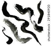 wavy brush strokes. inky... | Shutterstock .eps vector #291840920