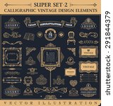 calligraphic icons vintage... | Shutterstock .eps vector #291844379