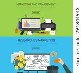 marketing and management.... | Shutterstock .eps vector #291844943