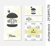 set of cards with sketched... | Shutterstock .eps vector #291849170