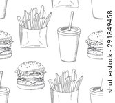 seamless pattern with sketched... | Shutterstock .eps vector #291849458