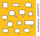 set of comic bubbles with... | Shutterstock .eps vector #291849779
