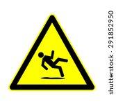 wet floor sign  vector... | Shutterstock .eps vector #291852950