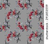watercolor garden rowan plant... | Shutterstock . vector #291853559