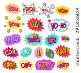set comics speech bubble social ... | Shutterstock .eps vector #291853634