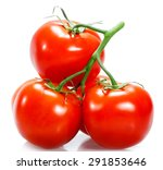 Tomato Isolated On White...