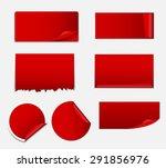 sale sticker  banner template...   Shutterstock . vector #291856976