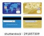 vector credit cards | Shutterstock .eps vector #291857309